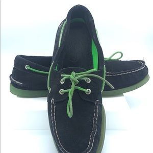 Suede Sperry boat shoes